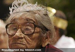 107 years old bride