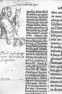 طرحی در اولین چاپ کتاب در ستایش دیوانگی در ۱۵۱۵